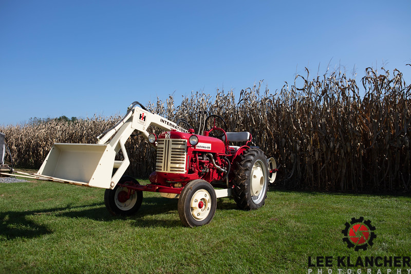 1957 IH Cub Lo-Boy with 1000 Loader  and McCormick 188 Planter