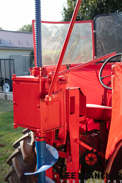 Cub with Snowblower, Windbreak and Post Hole Digger