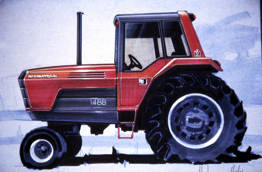 Early concept drawing for the 50 series tractor. Gregg Montgomery collection