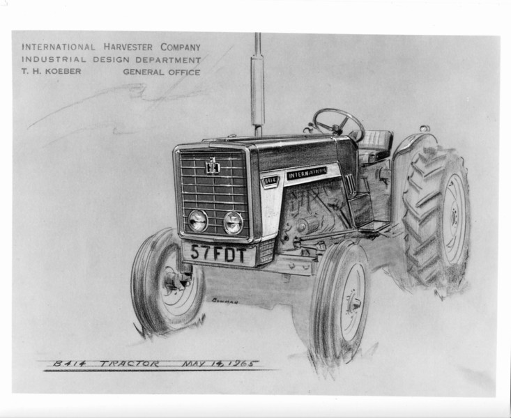 Prototype drawing. The drawing is intriguing, as it is dated four years after the original introduction of the of the B-414. Gregg Montgomery collection
