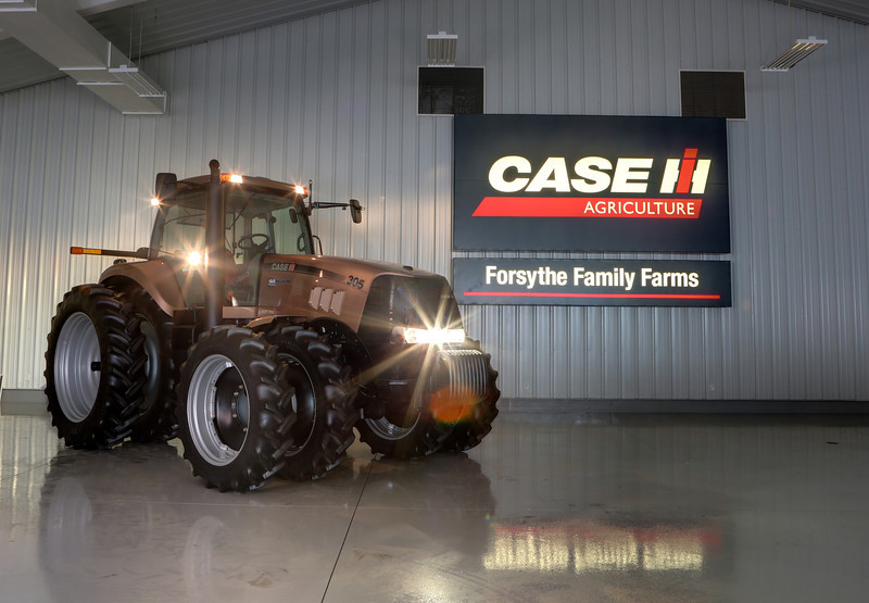 The only all-gold 2008 Case IH Magnum 305 in existence. Owned by Gerry Forsythe