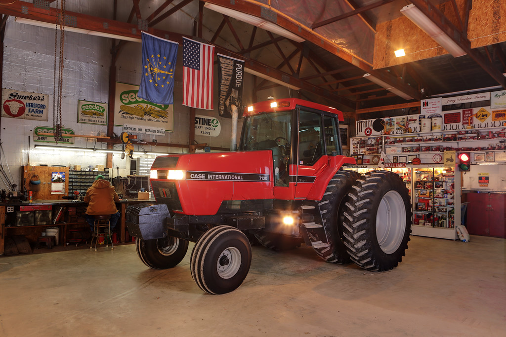 1991 Magnum 7130 owned and restored by Jerry Smoker, who is shown putting in another long night working at his bench.