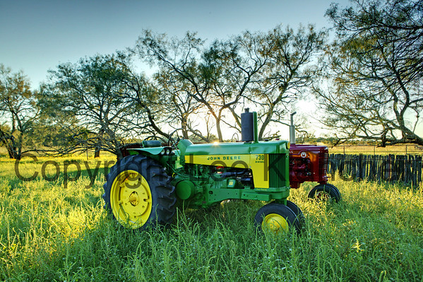 Print #120 Texas Mix<br /> Tractors owned by Charles Klein of Stonewall, Texas