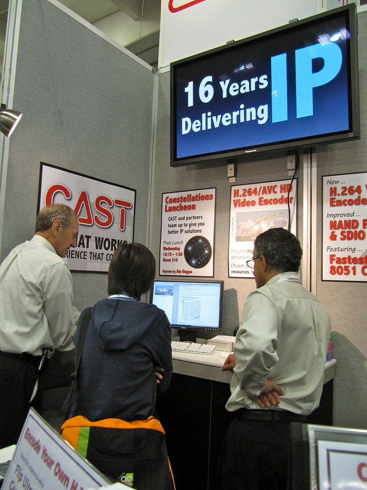 Live website/datasheet printing station proves useful.
