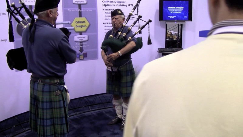 Video of the traditional DAC closing, Amazing Grace on bagpipes. Thanks to Forte Design Systems for sponsoring the live bagpipers!