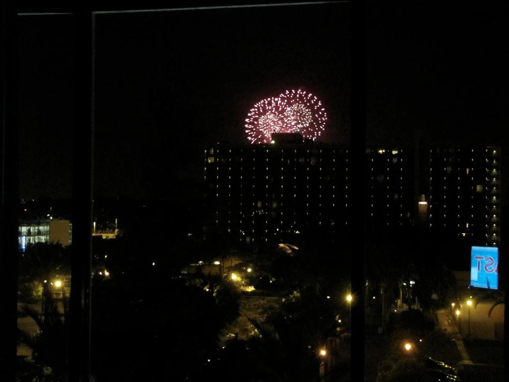 DisneyLand fireworks from my hotel Saturday night.