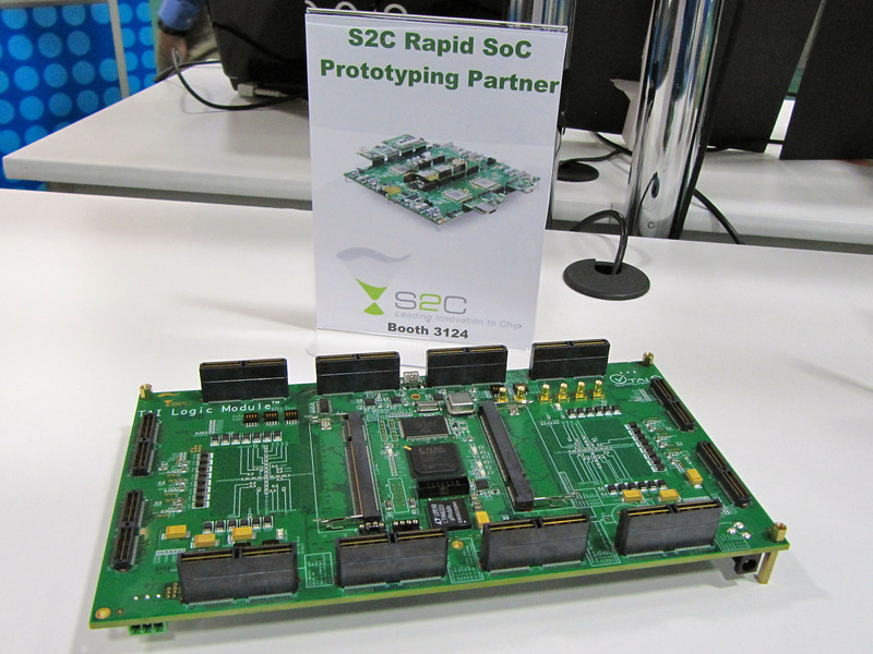 On display: prototyping board from partners S2C.