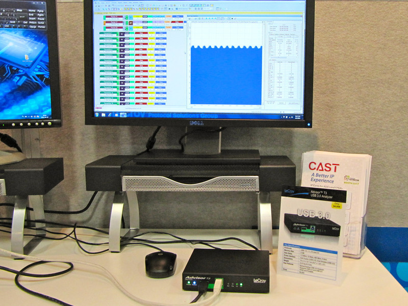 Thanks to LeCroy for loaning CAST an Analyzer for the USB 3 demo.