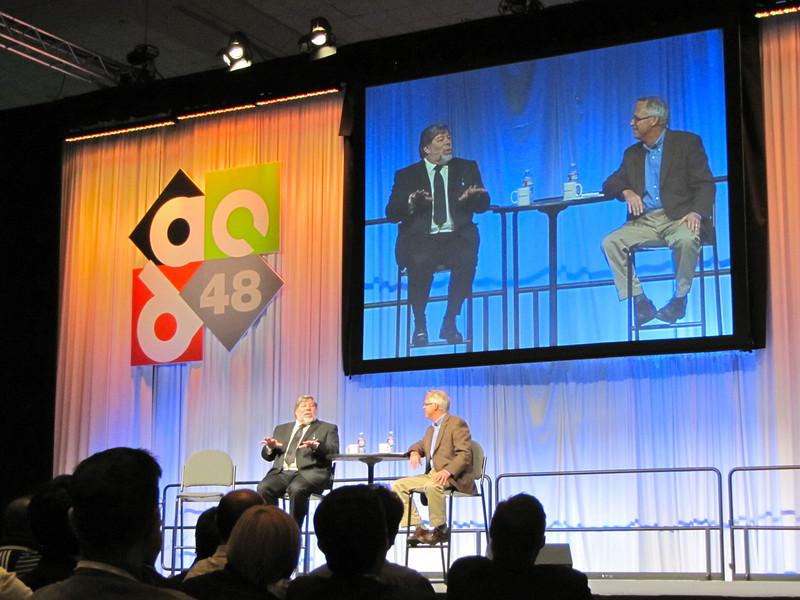 Steve Wozniak keynote, an interesting chat with a reporter.
