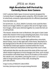 Example Mars photo info panel.
