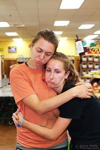 Britta and Caroline Sad