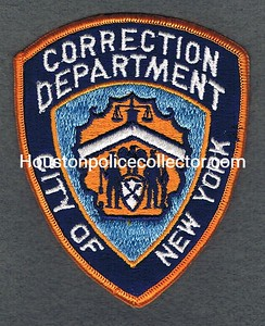 NYPD CORRECTION GOLD BORDER