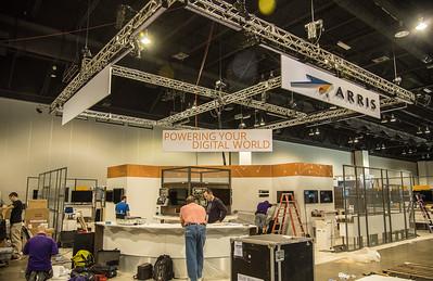 SCTE ARRIS booth taking shape LR-7811