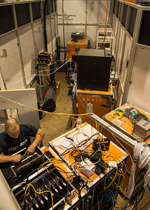 SCTE ARRIS Tech room powering the booth LR-7817