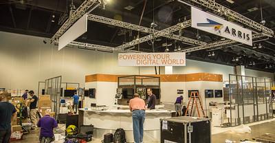 SCTE ARRIS booth taking shape LR-7812