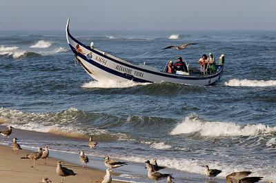Arte Xavega 6. a chegada do barco a terra