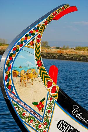 O barco Moliceiro da ria de Aveiro