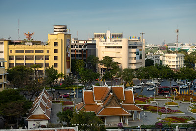 Bangkok view from Loha Prasat, Wat Ratchanatdaram