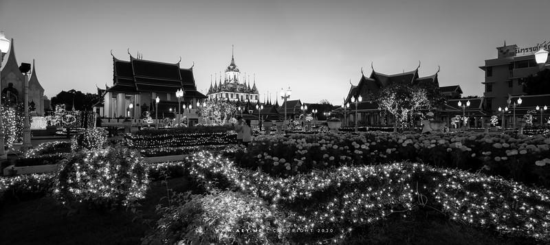 Loha Prasat, Wat Ratchanatdaram view from Maha Chetsadabodin Pavilion
