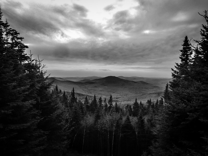 A shot taken from the Gorge Brook Trail heading to the summit of Mt. Moosilauke in the White Mountains.  I believe this shot was take facing south.
