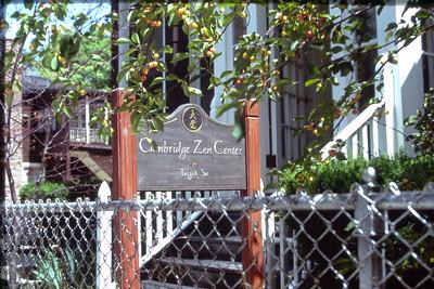 Cambridge Zen Center Sign (Cambridge, MA) Buddhism (MA)