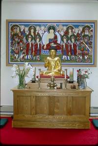 Dharma Room Altar at Cambridge Zen Center (Cambridge, MA) Buddhism (MA)