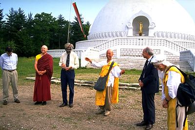 Gathering at the Peace Pagoda Before the Juneteenth Solidarity Walk (Leverett, MA)