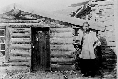 Chinese Woman at Her Log Cabin Near the Chinese Temple (Virginia City, MT)