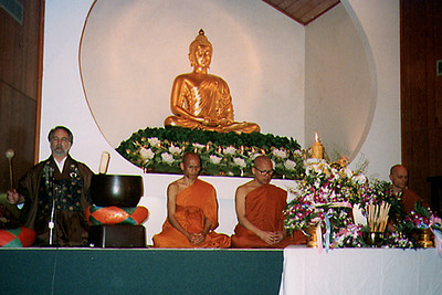 Monks Pray at the Ninth Annual Visakha Festival (Chicago, IL)