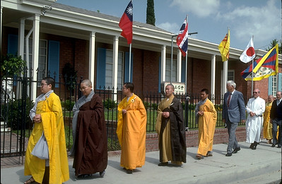 Members Of The Buddhist Sangha Council of Southern California Observe the Buddha's Birthday (Rosemead, CA)