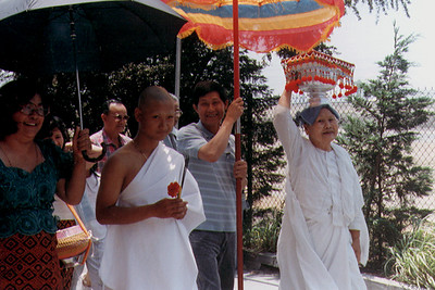 Teenager Becoming a Novice Monk at Khemara Buddhikaram (Long Beach, CA)