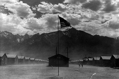 Dust Storm at the War Relocation Authority Center (Manzanar, CA)