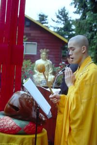 Monk Leading Ceremony at Trin Xa Quan Am (Seattle, WA)