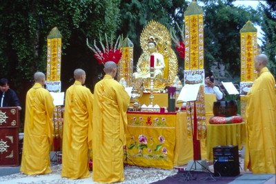 Monks Lead Sunday Service At Tinh Xa Quan Hanh (Seattle, WA)