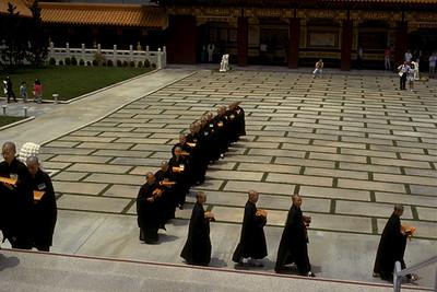 Procession of Buddhist Nuns at Hsi Lai Temple (Hacienda Heights, CA)