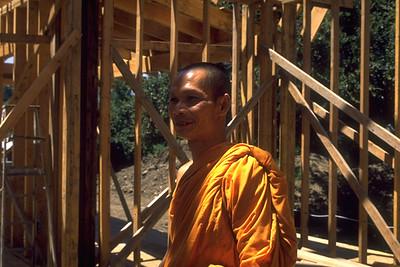 Monk Supervising Construction Of Wat Buddhanusorn (Fremont, CA)