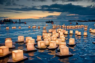 Floating Lantern Ceremony at Ala Moana Park (Honolulu, HI)