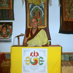 Venerable George Charnoff Offering a Dharma Talk at Karme Choling (Barnet, Vermont)