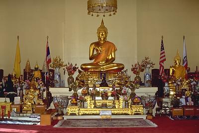 Buddha Image on the Main Altar at Chua Vietnam (Los Angeles, CA)