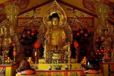 Golden Buddha on the Altar of Tinh Xa Quan Am (Seattle, WA)