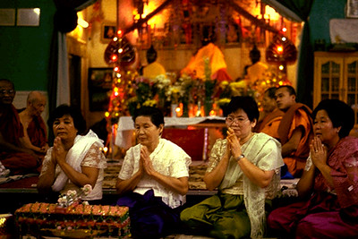 Family Members of Rithpole Yem Participating in His Ordination Ceremony at Khmer Buddhist Center (Lynn, MA)