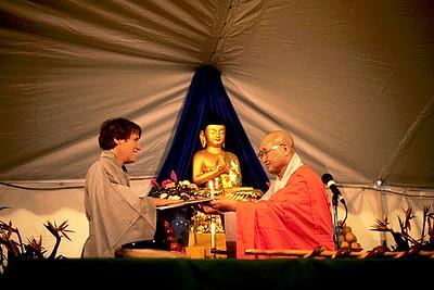 Zen Master Barbara Rhodes Receiving Dharma Transmission From Zen Master Seung Sahn (Providence, RI)
