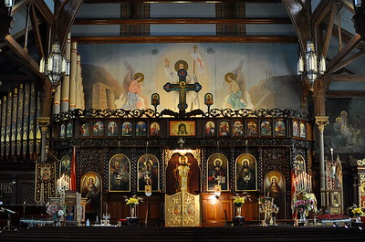Iconostasis of St. George's Albanian Orthodox Cathedral (South Boston, MA)