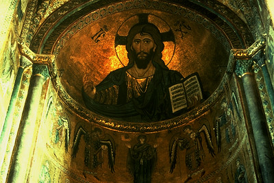 Image of Jesus at the Cathedral of Cefalu (Cefalu, Italy)