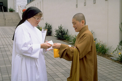 Buddhist and Catholic Nuns Talking (Trappist, KY)