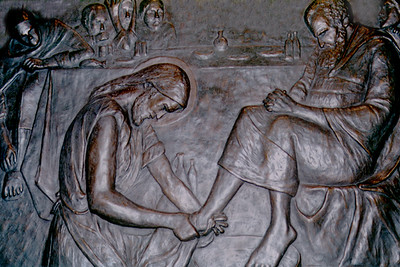 Bronze Relief Showing the Washing of the Feet