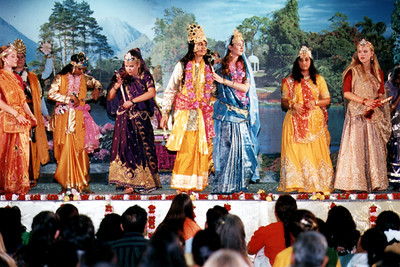 Performers In A Play Telling The Story Of Krishna And Radha (Austin, TX)