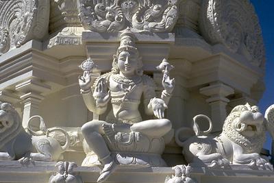 Vishnu on One of the Sri Lakshmi Temple Towers (Ashland, MA)
