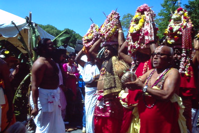 Priests Carry Water Offerings During the Consecration of Sri Lakshmi (Ashland, MA)