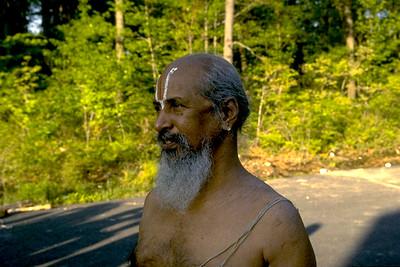 Brahmin Priest Officiating an American Temple Dedication